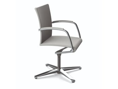 Fabric training chair with 4-spoke base with armrests VISTA RE | Training chair with 4-spoke base