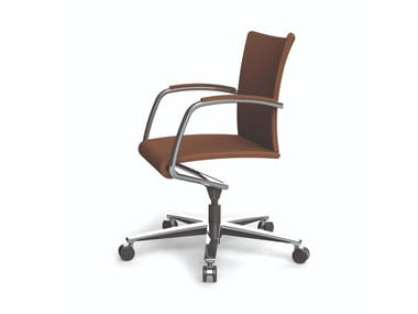 Fabric office chair / training chair VISTA RE | Training chair with 5-spoke base