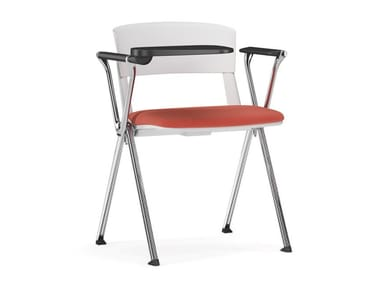 Polypropylene training chair with writing tablet YUGEN   Training chair with writing tablet