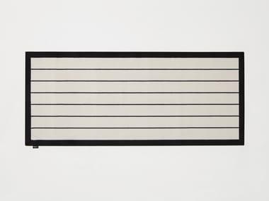 Rectangular striped velvet rug TRAMATO TR440