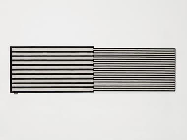 Tappeto rettangolare in velluto a righe TRAMATO TR650