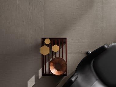 Full-body porcelain stoneware flooring TRAME CANVAS MORO