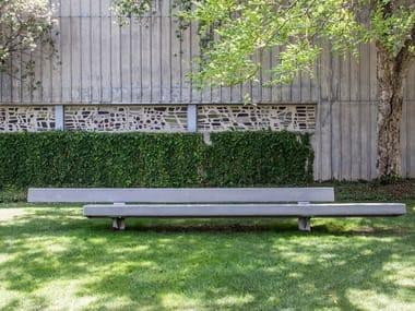 Panchina in calcestruzzo con schienale TRAPECIO | Panchina in calcestruzzo
