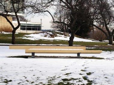 Panchina in legno lamellare con schienale TRAPECIO | Panchina in legno lamellare
