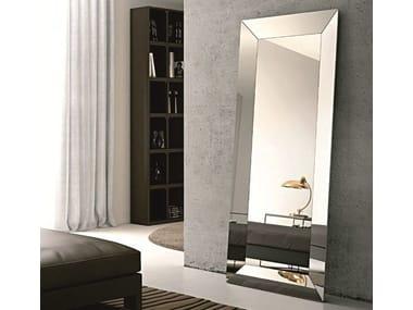 Rectangular framed mirror TRAPEZIO | Freestanding mirror