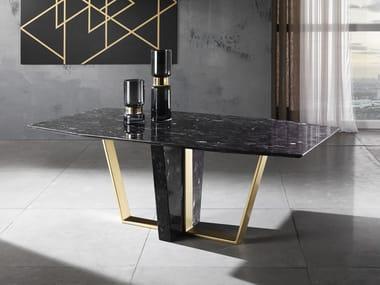 Rectangular natural stone table TRAPEZIUM