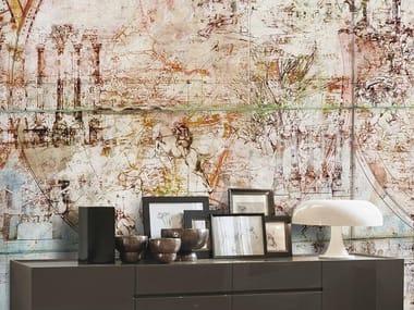 Papel de parede adesivo lavável estável aos raios UV de tecido estilo moderno TRAVELLING