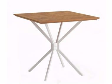 Tavolo da giardino pieghevole quadrato TRAVERSE