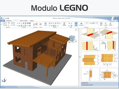 Structural calculation for timber TRAVILOG - MODULO LEGNO