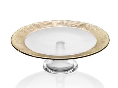 Round glass tray DINNER IN JEDDAH   Tray