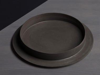 Round porcelain stoneware tray ROSA | Tray