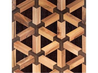 Italian walnut, Wenge and Stained oak wall/floor tiles TRE-D LEGNO