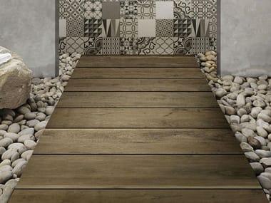Pavimento per esterni rettificato effetto legno TREVERKDEAR20 | Brown
