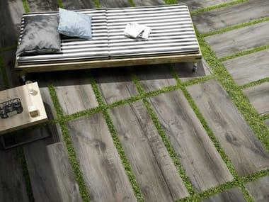 Pavimento per esterni rettificato in gres porcellanato TREVERKMADE20 | Fumè