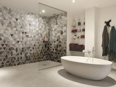 Nonwoven bathroom wallpaper with marble effect TRIABLES