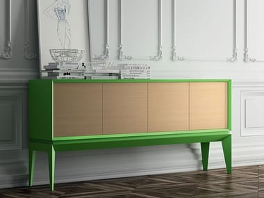 Beech sideboard with doors TRIANGLE SOFT | Sideboard with doors