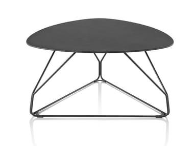 Triangular metal coffee table POLYGON WIRE | Triangular coffee table