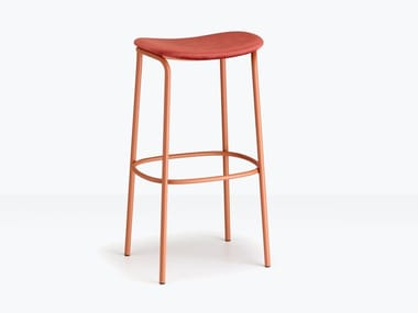 Upholstered steel and fabric stool TRICK POP
