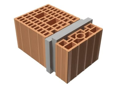 Loadbearing clay block TRIS® LOADBEARING 39X25X19