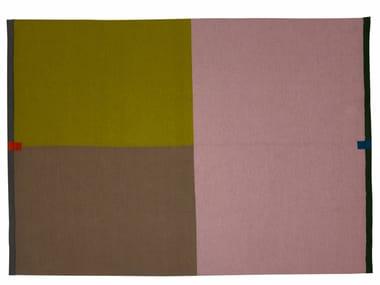 Rectangular wool rug with geometric shapes TRIS