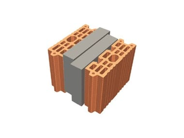 Thermal insulating clay block TRIS® 24X26X19