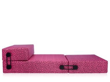 Polyester lounge chair / pouf TRIX SOTTSASS EDITION