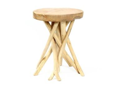 Round teak coffee table TROPIC