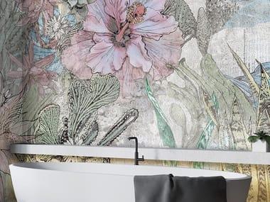 Papel de parede de tecido não tecido de flores TROPIC OF CANCER