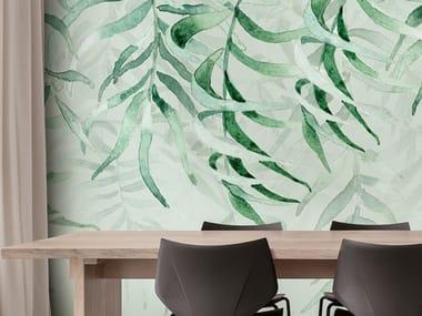Papel de parede ecológico lavável livre de PVC TROPICAL RAIN