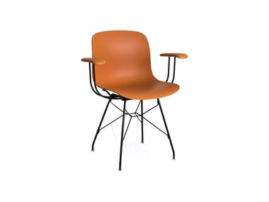 Polycarbonate chair with armrests TROY | Chair with armrests