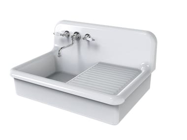 Single ceramic sink with drainer TRUE COLORS KITCHEN 90 | Sink with drainer