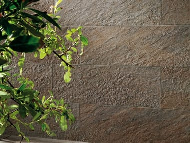 Outdoor porcelain stoneware wall tiles with stone effect TRUST | Outdoor wall tiles