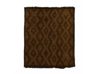 Rectangular wood and leather Mat TUAREG ST042TU