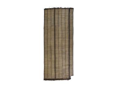 Rectangular wood and leather Mat TUAREG ST59BE