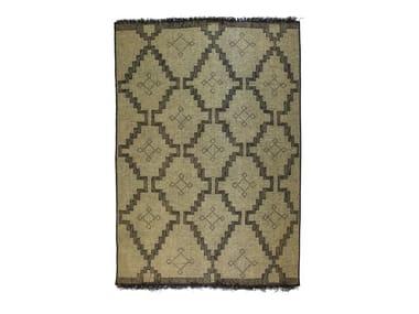 Rectangular wood and leather Mat TUAREG ST72TU