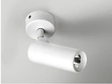 Spot LED ajustável de aço inox com dimmer TUB LED 6324