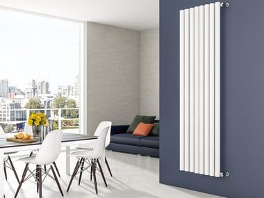 Vertical wall-mounted steel decorative radiator TUBONE
