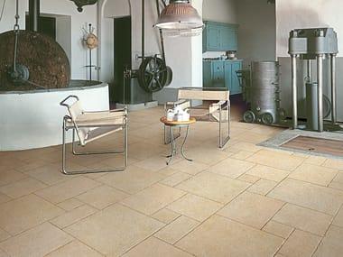 Pavimento/rivestimento in gres porcellanato effetto pietra TUFO GIALLO