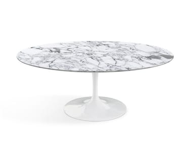 Oval marble coffee table TULIP | Oval coffee table