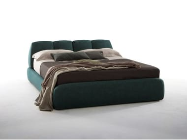 Upholstered leather storage bed TUNY