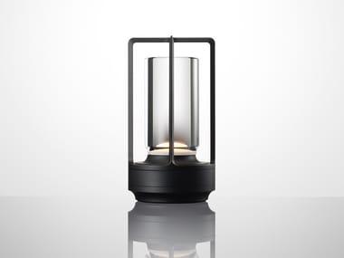 Lampada da tavolo a LED senza fili con ricarica USB TURN+ ALUMINUM BLACK