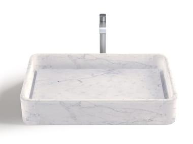 Lavabo da appoggio rettangolare in marmo di Carrara TUSCANICO | Lavabo rettangolare