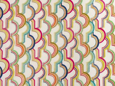Handmade linen fabric TUTTI FRUTTY