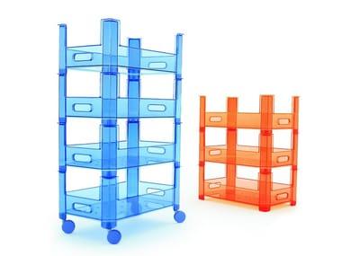 Toy storage box with casters TUTTIFRUTTI