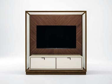 Wooden TV cabinet with drawers TOWN | TV cabinet