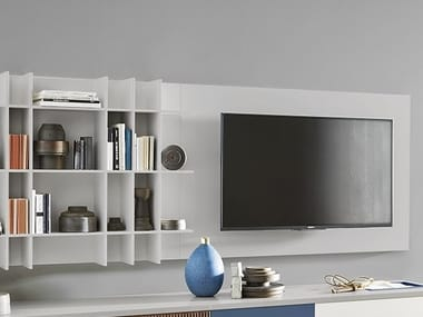 Wall Mounted TV Cabinet With Shelves TV LCD Mounting Panel