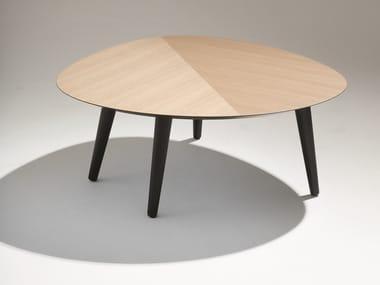 Oval wooden coffee table TWEED MINI MEDIUM