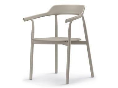 Cadeira de plástico com braços com encosto aberto TWIG COMFORT / 10E | Cadeira