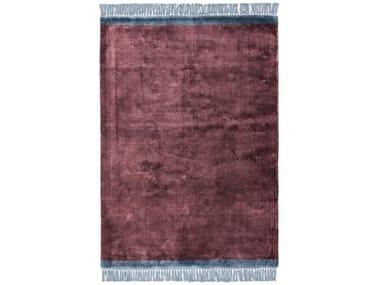 Hand-loomed rugs TWIST BURGUNDI