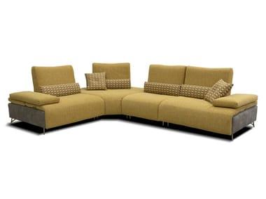 Divano angolare componibile reclinabile in tessuto TWIX | Divano angolare